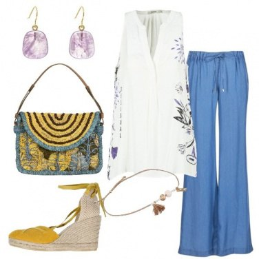 Outfit Pantalone blu Michael Kors