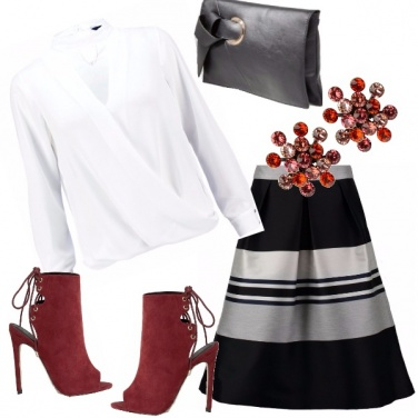 Outfit Rosso romantico