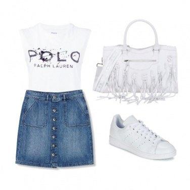 Outfit White Polo