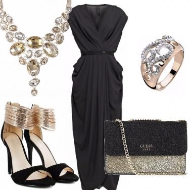 Outfit La classe del nero e oro