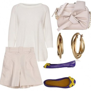 Outfit Panna e violetta