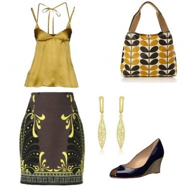 Outfit Tribal gold