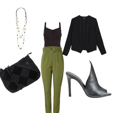 Outfit Blk green