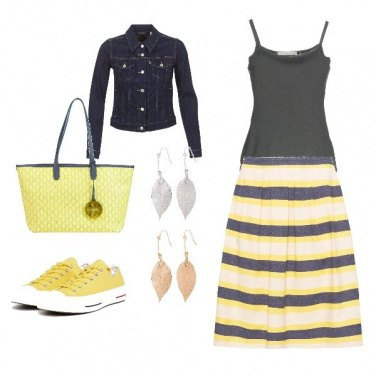 Outfit YellowGrey-As