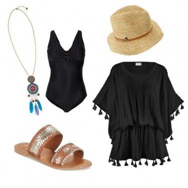 Outfit Al mare con i Pon pon