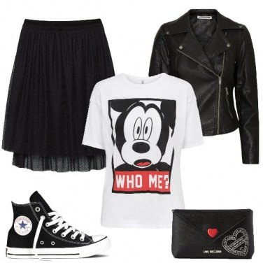 Outfit Trendy in sneakers