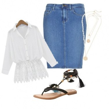 Outfit Jeans e sandali