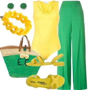 Outfit Pantalone verde