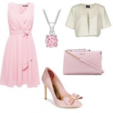 Outfit Rosa per la comunione