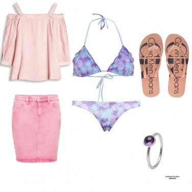 Outfit Purple beach