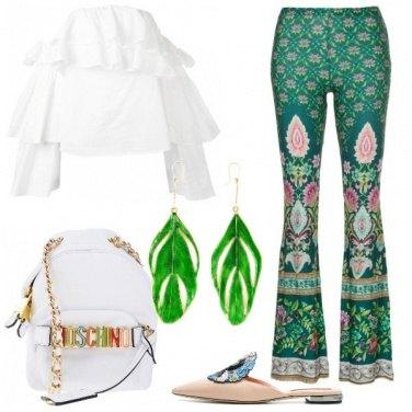 Outfit Splendente in verde