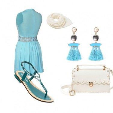 Outfit Fresca in azzurro