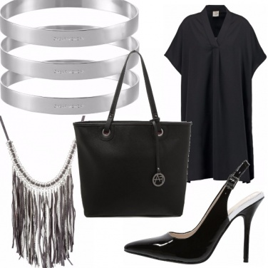 Outfit Black-silver