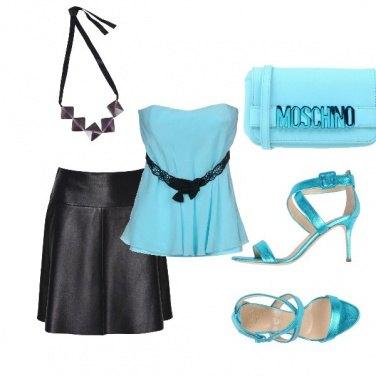 Outfit Un tocco di celeste