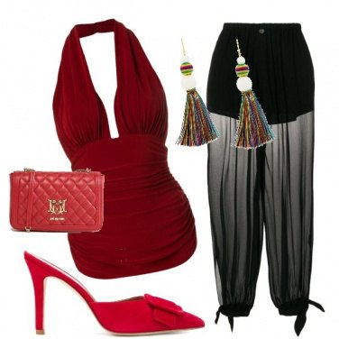 Outfit Ciabatte rosse