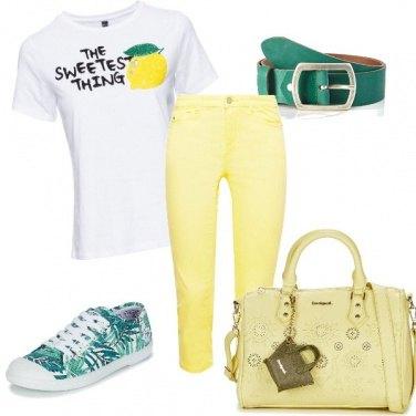 Outfit Giallo e verde