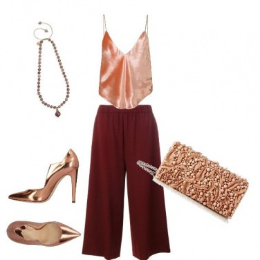 Outfit Donna rosegold