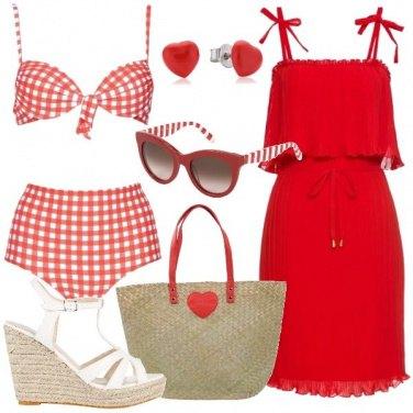 Outfit Al mare in rosso