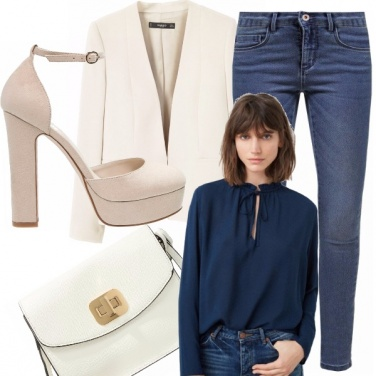Outfit Eleganti e professionali in denim