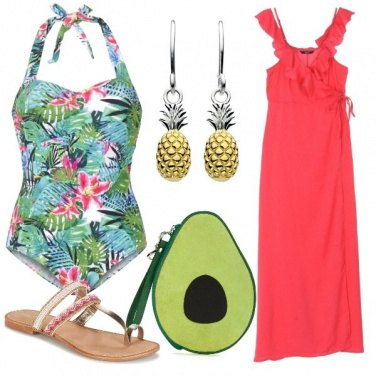 Outfit Tropical pool party