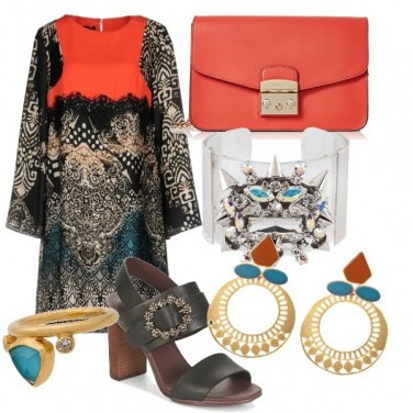 Outfit etnico chic