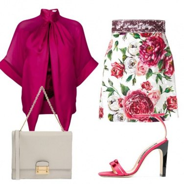 Outfit Gonna a fiori