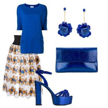 Outfit Cerimonia in bluette