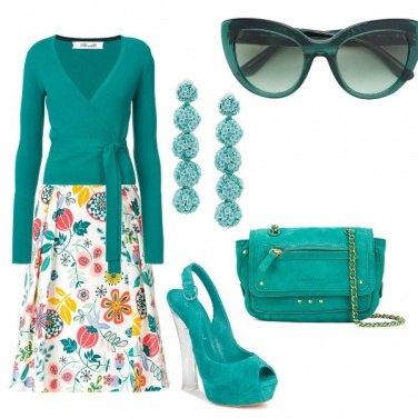 Outfit Floreale e stilosa