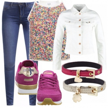 Outfit Sneakers fucsia