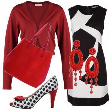 Outfit Rosso, bianco e nero