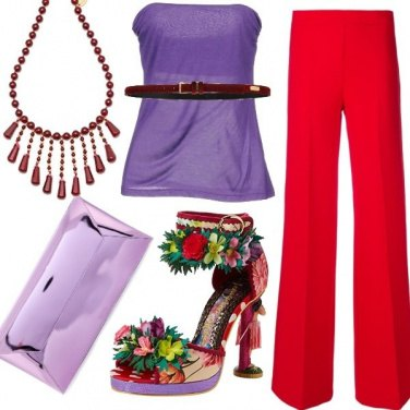 Outfit A touch of color!