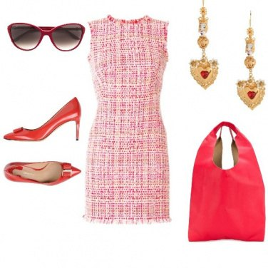 Outfit Rosso chic