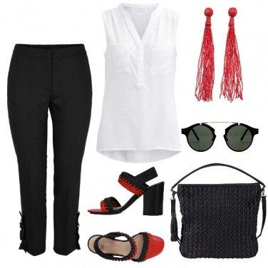 Outfit Dettagli rossi