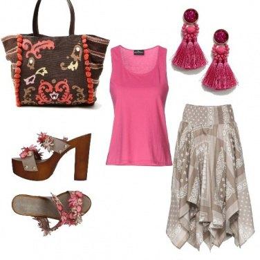 Outfit Zoccoli floreali