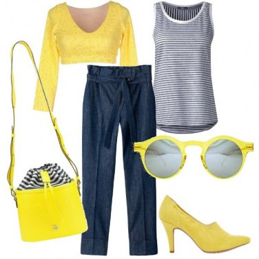 Outfit Giallo shock