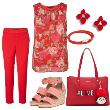 Outfit Rosso Tulipano