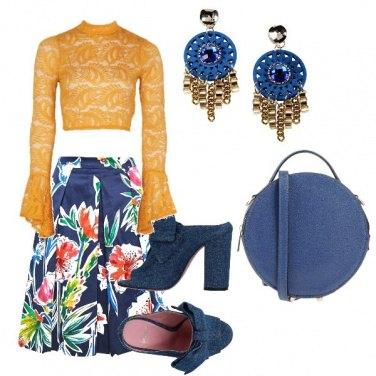 Outfit Ocra e blue