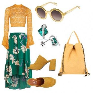 Outfit Smeraldo e ocra