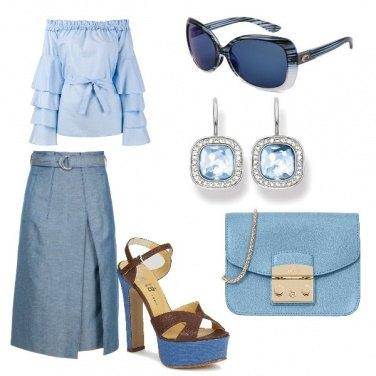 Outfit Vintage fiocco e scollo