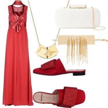 Outfit Cerimonia con ciabattine glam