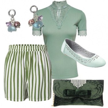 Outfit Verde pastello
