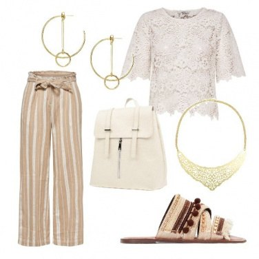Outfit Ciabattine chic