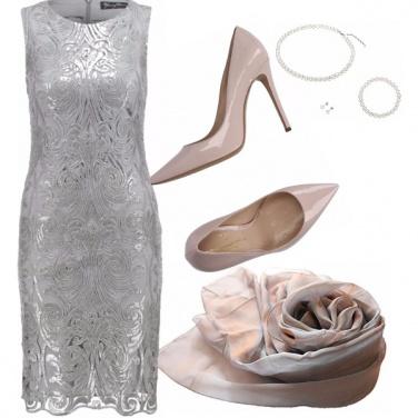 Outfit Matrimonio 2/3 damigelle in grigio/rosa