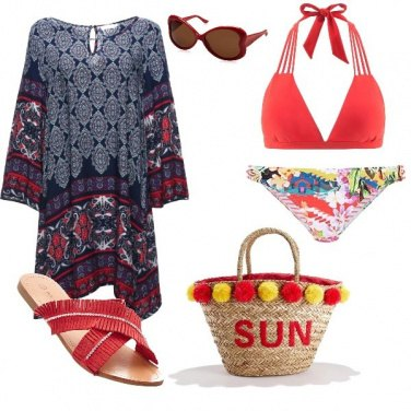Outfit Etno chic in spiaggia
