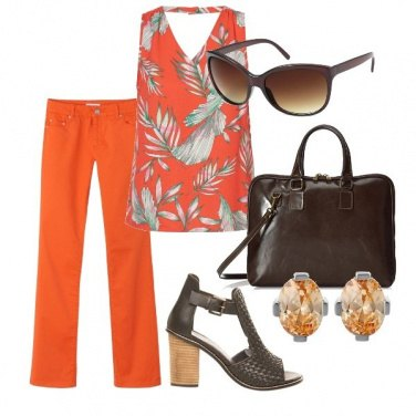 Outfit Orange&brown
