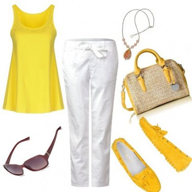 Outfit Basic, giallo in città