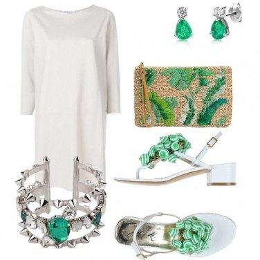 Outfit Bianco e verde da a...mare
