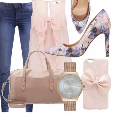 Outfit Rosa, celeste e denim!