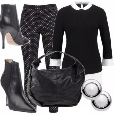 Outfit Curvy b & w