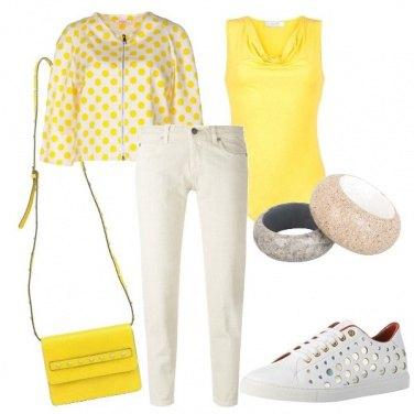 Outfit Panna e giallo
